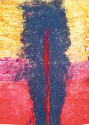 059 - Glutsäule - 2020/01 - Original: Acryl auf Vlies - ca. 50 x 70 cm