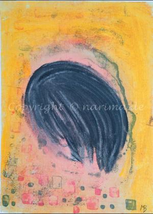 083 - Versteckt - 2020/03 - Original: Acryl auf Vlies - ca. 50 x 70 cm