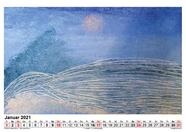 Malerei: Kalenderblatt Januar 2021