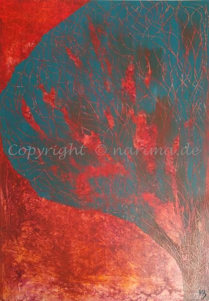 130 - Bild ohne Titel - 2020/07 - Original: Acryl auf Vlies - ca. 50 x 70 cm