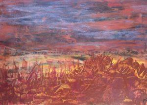 133 - Bild ohne Titel - 2020/08 - Original: Acryl auf Vlies - ca. 50 x 70 cm