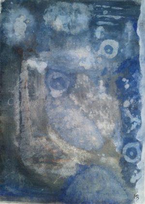 135 - Bild ohne Titel - 2020/08 - Original: Acryl auf Vlies - ca. 50 x 70 cm