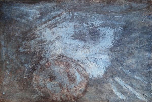 0136 - Bild ohne Titel - 2020/08 - Original: Acryl auf Vlies - ca. 50 x 70 cm