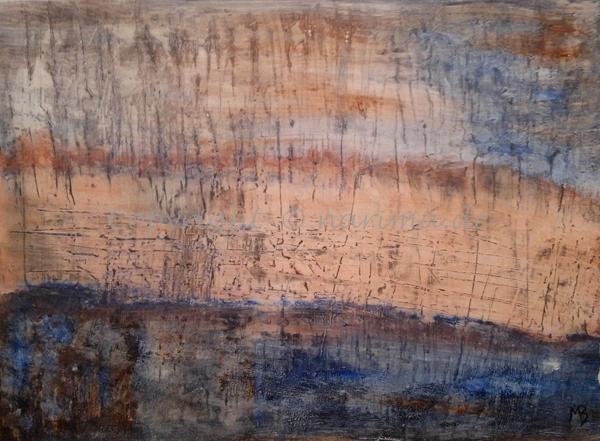 137 - Bild ohne Titel - 2020/08 - Original: Acryl auf Vlies - ca. 50 x 70 cm