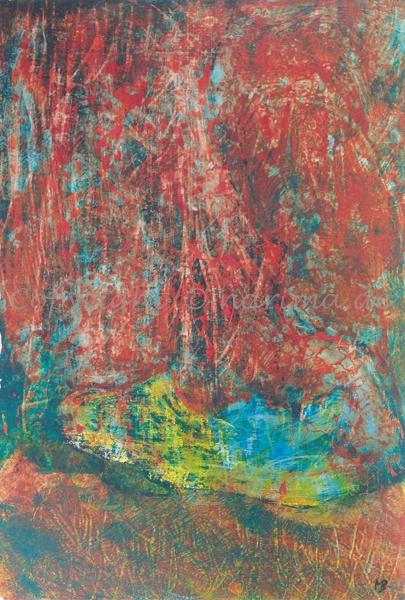 138 - Bild ohne Titel - 2020/08 - Original: Acryl auf Vlies - ca. 50 x 70 cm