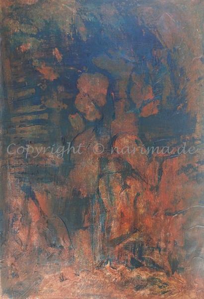 139 - Bild ohne Titel - 2020/08 - Original: Acryl auf Vlies - ca. 50 x 70 cm