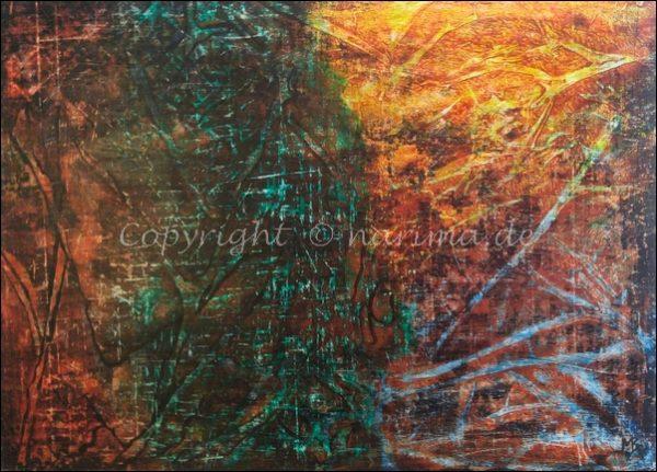 0140 - Bild ohne Titel - 2020/09 - Original: Acryl auf Vlies - ca. 50 x 70 cm