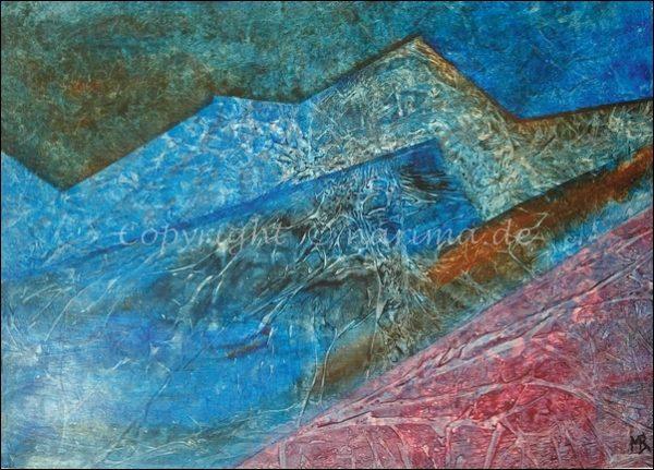 0141 - Bild ohne Titel - 2020/09 - Original: Acryl auf Papier - ca. 50 x 70 cm
