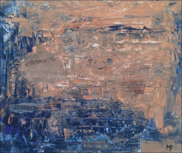 0168 - Bild ohne Titel - 2021/01 - Original: Acryl auf Vlies - ca. 50 x 42 cm