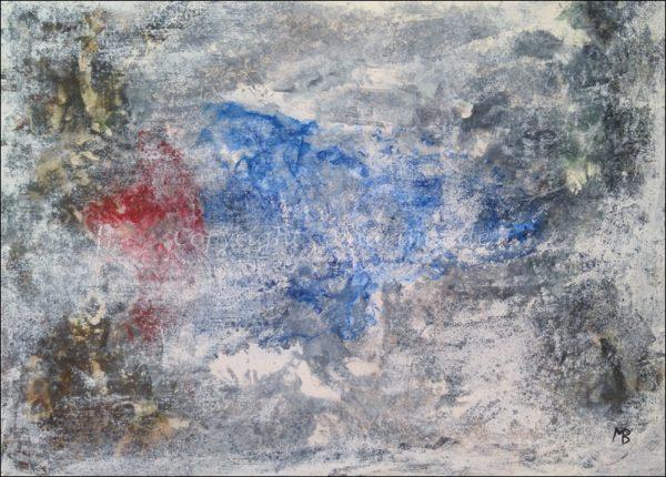 0169 - Bild ohne Titel - 2021/01 - Original: Acryl auf Vlies - ca. 50 x 70 cm