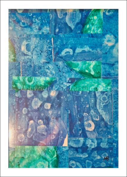 0171 - Bild ohne Titel - 2021 - Original: Acryl auf Vlies - ca. 52 x 60 cm
