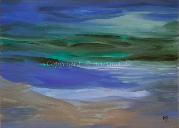 0175 - Bild ohne Titel - 2021 - Original: Acryl auf Vlies - ca. 50 x 70 cm