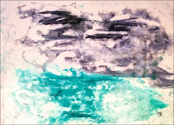 0178 - Bild ohne Titel - 2021 - Original: Acryl auf Vlies - ca. 50 x 70 cm