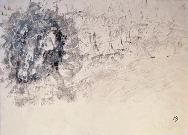 0179 - Bild ohne Titel - 2021 - Original: Acryl auf Vlies - ca. 50 x 70 cm