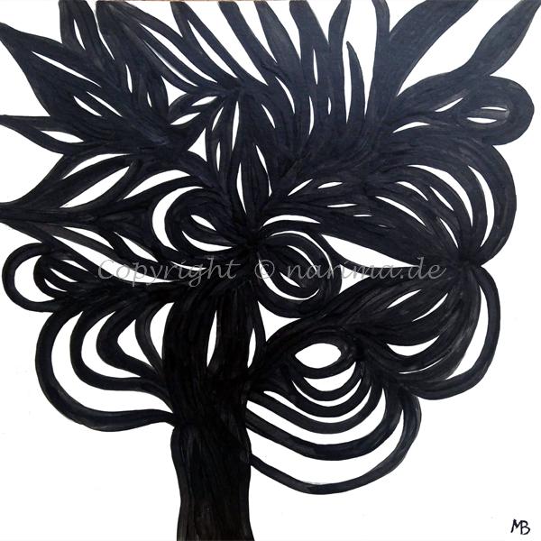 018 - Öffnung - 2019 - Original: Acryl auf Karton - ca. 40 x 40 cm