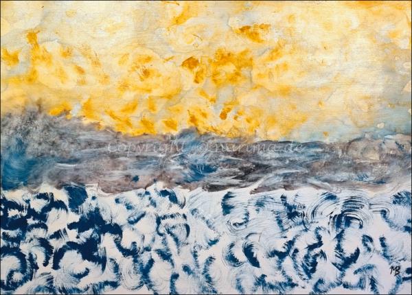 0180 - Bild ohne Titel - 2021 - Original: Acryl auf Vlies - ca. 50 x 70 cm