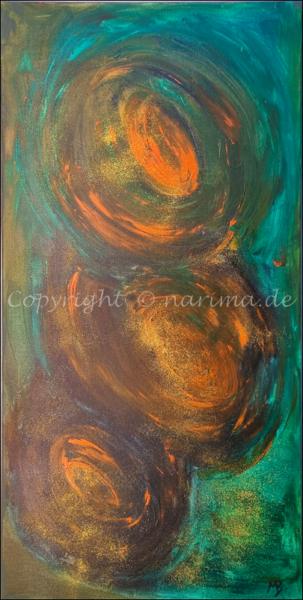 0185 - Bild ohne Titel - 2021 - Original: Acryl auf Leinwand - ca. 40 x 80 cm