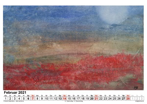 Malerei: Kalenderblatt Februar 2021