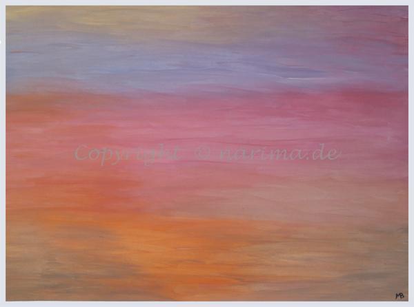 0035 - Titel: Himmelsfarben - 2019/11 - Original: Acryl auf Vlies - ca. 50 x 70 cm