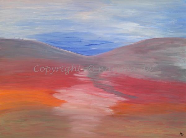 0036 - Titel: Himmelsfarben - 2019/11 - Original: Acryl auf Vlies - ca. 50 x 70 cm