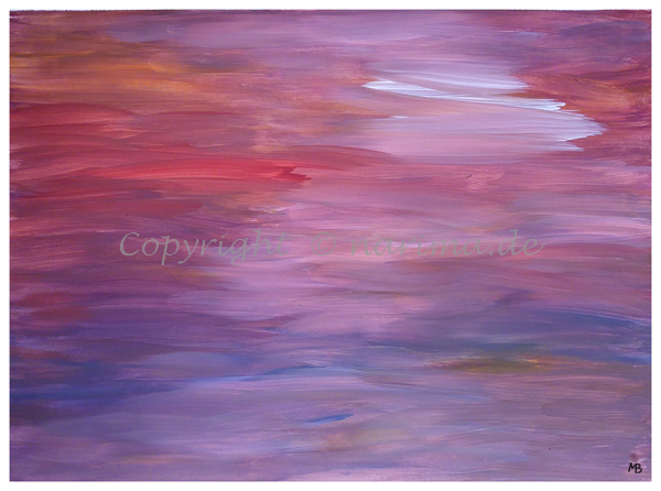 043 - Titel: Himmelsfarben - 2019/12 - Original: Acryl auf Vlies - ca. 50 x 70 cm