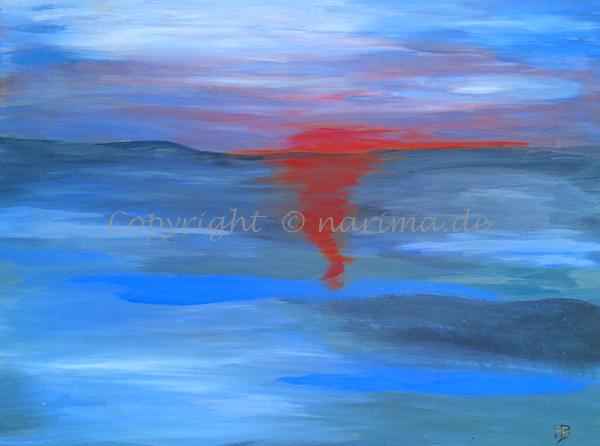 060 - Wattblau - 2019/10 - Original: Acryl auf Leinwand - ca. 40 x 60 cm