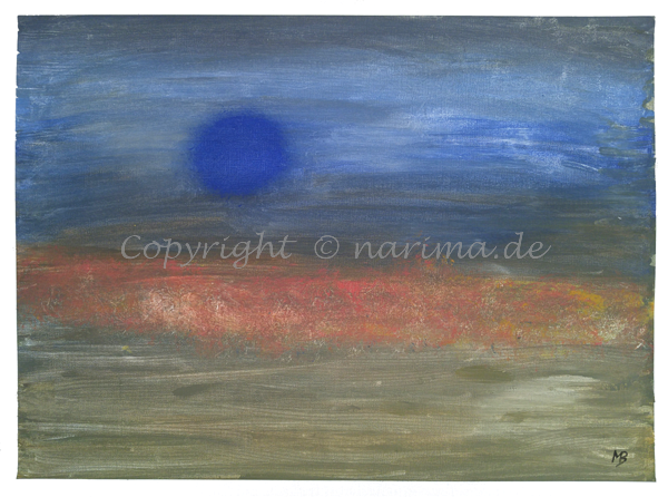 069 - Blue Moon - 2020/02 - Original: Acryl auf Vlies - ca. 50 x 70 cm