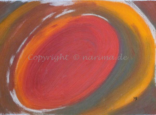 071 - unrund - 2020/02 - Original: Acryl und Kreide auf Vlies - ca. 50 x 70 cm
