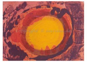 072 - Sonnensturm- 2020/02 - Original: Acryl auf Papier - ca. 45 x 60 cm