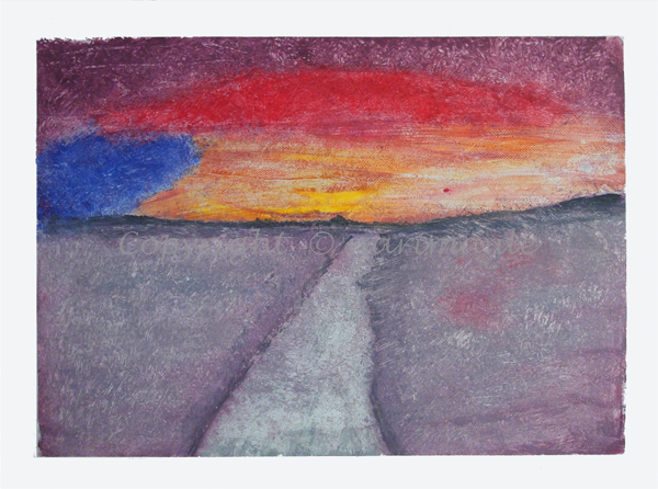 073 - ohne Titel - 2020/02 - Original: Acryl auf Vlies - ca. 50 x 70 cm