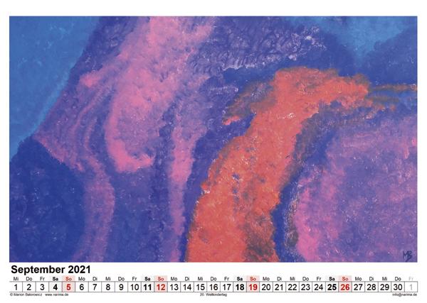 Malerei: Kalenderblatt September 2021