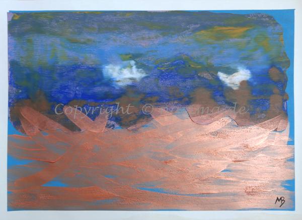091 - ohne Titel - 2020/03 - Original: Acryl auf Vinyl - Collage - ca. 50 x 70 cm