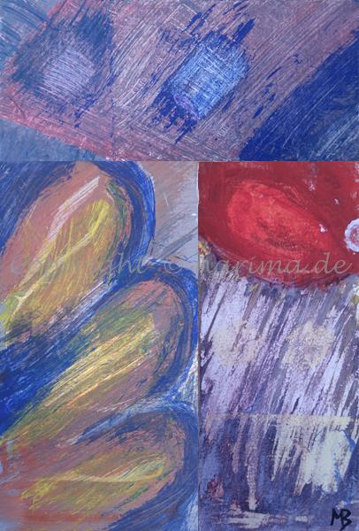 097 - Collage - 2020/04 - Original: Acryl auf Karton (1-3) - ca. 23 x 31 cm