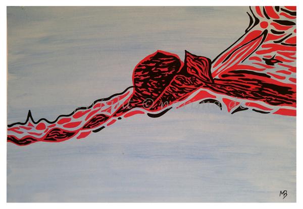 103 - ohne Titel - 2020/04 - Original: Gouache auf Papier - ca. 38 x 55 cm
