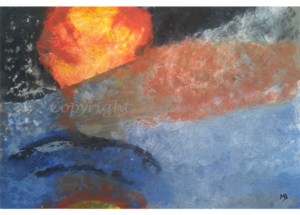 106 - ohne Titel - 2020/05 - Original: Acryl auf Vlies - ca. 50 x 70 cm