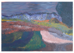 112 - ohne Titel - 2020/05 - Original: Acryl auf Vlies - ca. 50 x 72 cm