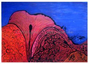 114 - ohne Titel - 2020/06 - Original: Acryl auf Vlies - ca. 50 x 72 cm