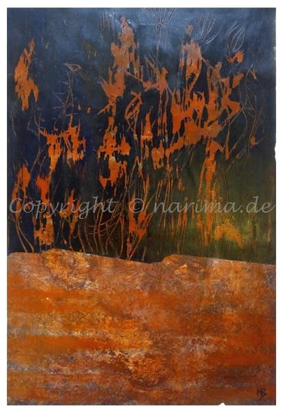 122 - ohne Titel - 2020/07 - Original: Acryl auf Vlies - ca. 50 x 73 cm