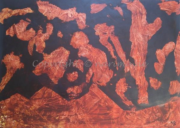 124 - ohne Titel - 2020/07 - Original: Acryl auf Vlies - ca. 50 x 70 cm