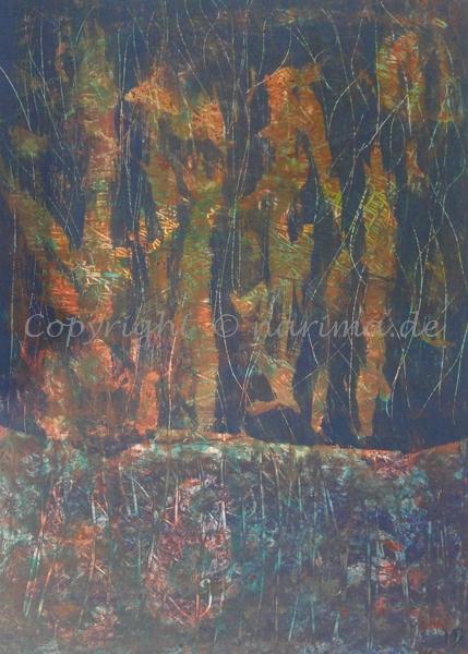 126 - Bild ohne Titel - 2020/07 - Original: Acryl auf Vlies - ca. 50 x 70 cm