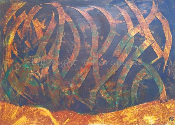 127 - ohne Titel - 2020/07 - Original: Acryl auf Vlies - ca. 50 x 70 cm