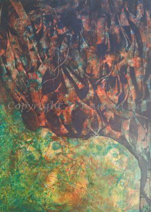 128 - ohne Titel - 2020/07 - Original: Acryl auf Vlies - ca. 50 x 70 cm