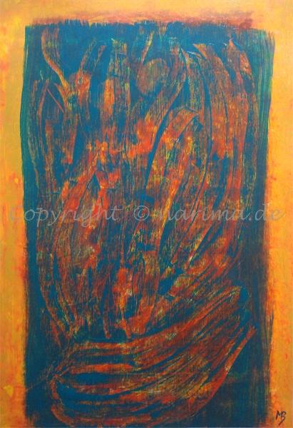 129 - Bild ohne Titel - 2020/07 - Original: Acryl auf Vlies - ca. 50 x 70 cm