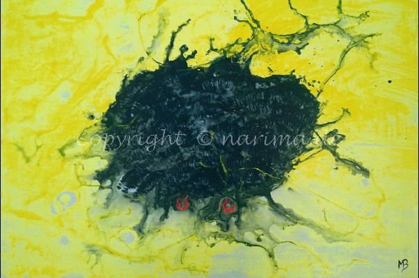 0157 - Bild ohne Titel - 2020/11 - Original: Acryl auf Vlies - ca. 50 x 70 cm