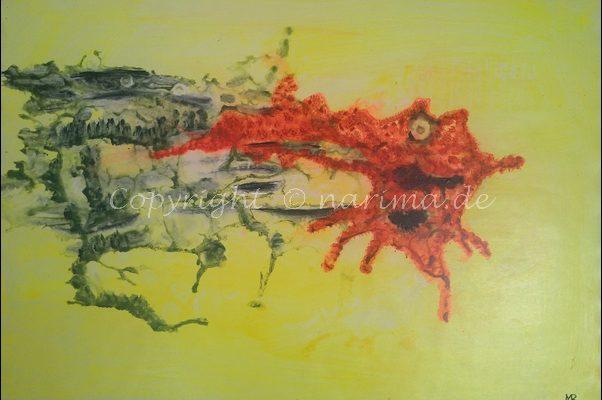 0159 - Bild ohne Titel - 2020/12 - Original: Acryl auf Vlies - ca. 50 x 70 cm