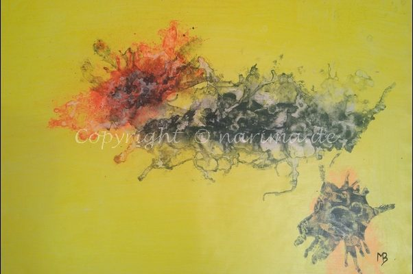 0160 - Bild ohne Titel - 2020/12 - Original: Acryl auf Vlies - ca. 50 x 70 cm