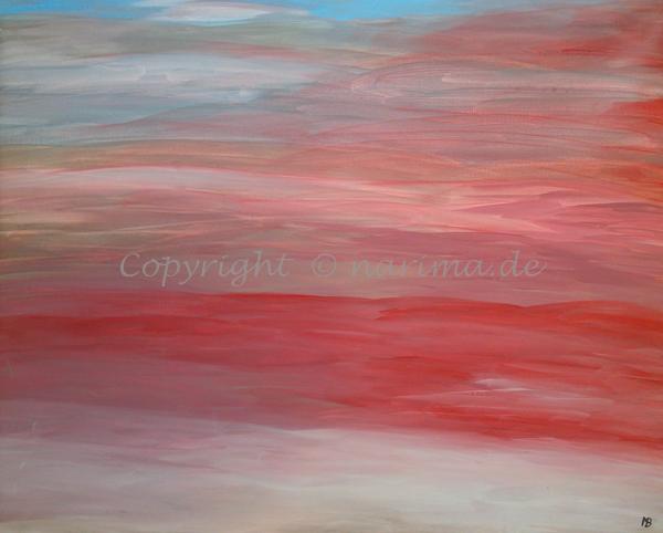 0001 - Titel: Himmelsfarben - Original: Acryl auf Leinwand - ca. 70 x 90 cm - 2019