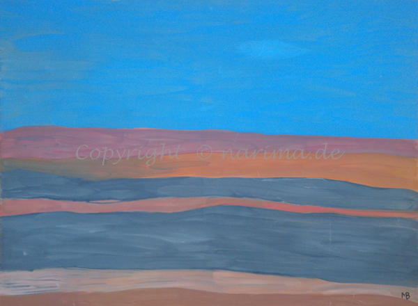 002 - Titel: Himmelsfarben - 2019 - Original: Acryl auf Gewebe - ca. 55 x 75 cm