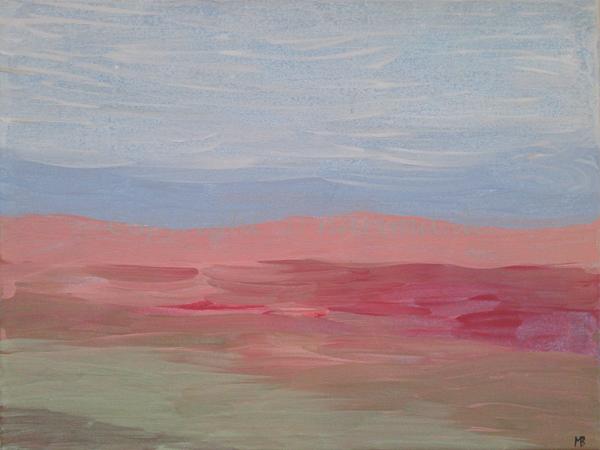 003 - Titel: Himmelsfarben - 2019 - Original: Acryl auf Leinwand - ca. 30 x 40 cm