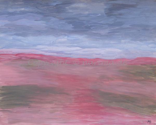 011 - Titel: Himmelsfarben - 2019 - Original: Acryl auf Papier - ca. 40 x 50 cm